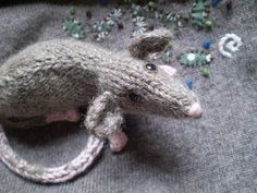 another rat from KnIt & Purl Pets by Claire Garland, via Flickr