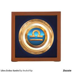 Libra Zodiac Symbol Desk Organizer | 30% OFF Spooktacular Essentials: coasters, favor boxes, wine charms, serving trays, posters, tablecloths, table runners, plates, platters, packs of cake pops, packs of cookies, chocolate boxes, frosting rounds, invitations, greeting cards, photo cards, postcards, and/or cheese boards - USE Code ZSPOOKYSCARY | 15% Off All Other Zazzle Products. | Valid through October 8, 2015 at 12:59:59 PM PT