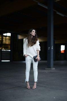 OUTFIT / WHITE LEATHER TROUSERS|COTTDS