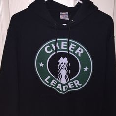 "CHEERLEADER SWEATSHIRT black Starbucks ""cheerleader"" sweatshirt worn a couple of times but great condition! price negotiable thru offer button!! Tops Sweatshirts & Hoodies"