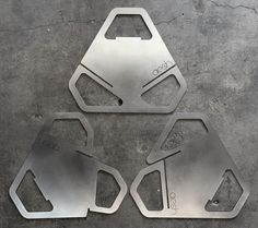 Fireflower Fire Pit - 3 flat pieces of steel slide together to for a fire pit!