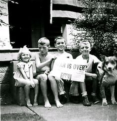War is over! Pitts Post-Gazette, Terry, neighborhood kids