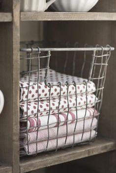 Tea towel red stripes - Ib Laursen