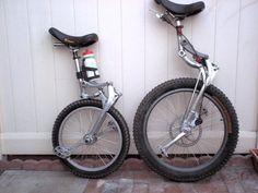Unicycle With Shock . Fat Bike, Ultralight Helicopter, Monocycle, Drift Trike, Push Bikes, Cargo Bike, Bicycle Girl, Brompton, Car Wheels