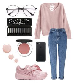 """Pink"" by yanamur on Polyvore featuring мода, Miss Selfridge, Puma и Topshop"