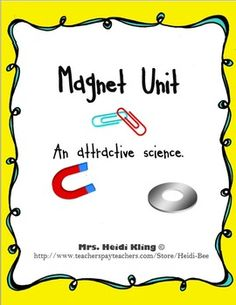 Magnet Unit includes 2 weeks of content. Includes 6 full page hands-on task cards, 6 coordinating response sheets, 9 vocabulary cards with pictures and 9 printable pages ready to use with your class today (including a non-fiction text comprehension assessment)!