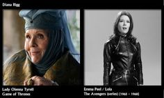 acteurs avant game of thrones diana rigg   Acteurs avant Game of Thrones   photo image game of thrones avant après acteur