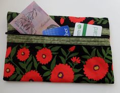 Fabric zippered pouch Kaffe Fassett fabric by StephsQuilts on Etsy