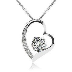 Oferta: 17.99€ Dto: -60%. Comprar Ofertas de J.Vénus Collar de plata de ley con cubic Zirconia para mujer,Con una caja(48cm de longitud) barato. ¡Mira las ofertas!