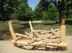 Ovaal speelconcepten: spelend leren, ontwikkelen & ontmoeten! - Artikel Kindergarten, Natural Playground, Garden Bridge, Outdoor Structures, Yard Ideas, Om, School, Google, Climbing