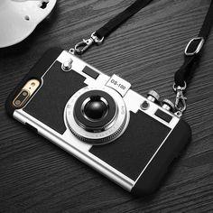 3D Camera Design Phone Case For i phone 8, 7, 6, 6s Plus SE 5s Cover 2 in 1 Phone Cases