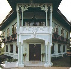 Art Deco in the Philippines Filipino Architecture, Philippine Architecture, Architecture Design, Philippine Houses, Philippine Art, Filipino House, Bali, Different House Styles, Open Concept Home