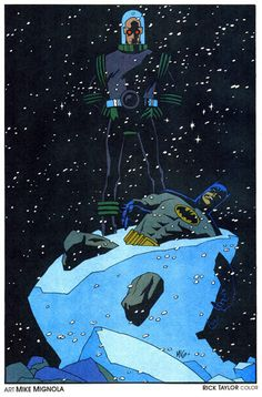 Batman and Mr. Freeze by Mike Mignola and Rick Taylor  Read More: Best Art Ever (This Week) | http://comicsalliance.com/best-art-ever-this-week-01-31-13/?trackback=tsmclip