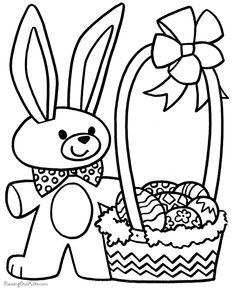 Preschool Easter coloring sheet