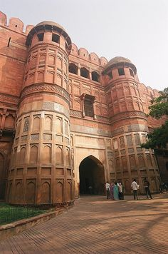 The entrance gate to Agra Fort, Agra, India by iancowe, via Flickr