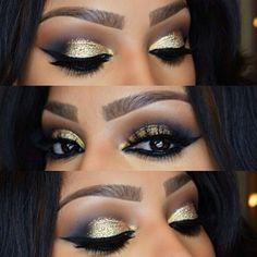 Eye make-up for brown skin
