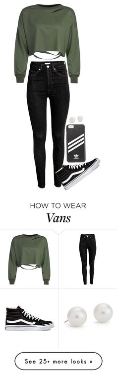 """""""A darker look???"""" by cait926 on Polyvore featuring adidas, WithChic, Vans and Blue Nile"""