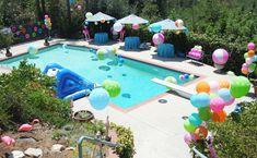 Flamingo pool party via Kara's Party Ideas KarasPartyIdeas.com Printables, cake, decor, stationery, tutorials, desserts, etc! #flamingo #flamingoparty #poolparty #summerparty #karaspartyideas (19)