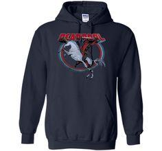 Deadpool Rides Unicorn Graphic T-Shirt