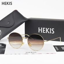 bd5c4a5490d42 HEKIS Brand Sunglasses Men Gradient Sunglasses Aluminum Frame Sun Glasses  Men Driving Goggle Eyewear Accessories B2739