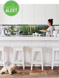 New Kitchen Window Splashback Home Ideas Kitchen Living, New Kitchen, Kitchen Decor, Beautiful Kitchens, Cool Kitchens, Kitchen Views, Kitchen Wallpaper, Kitchen Cabinet Colors, Best Kitchen Designs