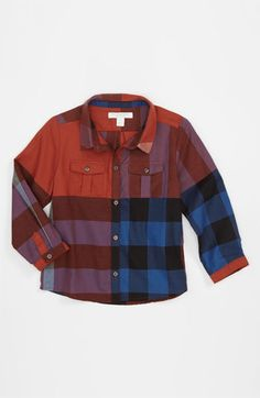 burberry check print shirt infant available at nordstrom
