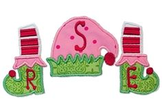 Elf Boots Monogram Blank Applique - 3 Sizes!   Font Frames   Machine Embroidery Designs   SWAKembroidery.com Bella Marie Boutique