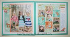 Two page photo and 6 smaller photos. Baby Girl Scrapbook, 12x12 Scrapbook, Scrapbook Designs, Scrapbook Sketches, Scrapbooking Layouts, 10 Picture, Photo Layouts, Close To My Heart, Card Making