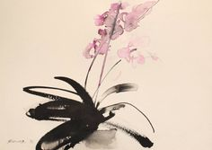 Buy Prints of Olidea, a Ink on Paper by Endre Penovác from Serbia. It portrays: Floral, relevant to: calligraphy, floral, flower, garden, home, ink, orchid www.penovacendre.com