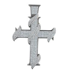 Diamond Platinum Cross #Pendant