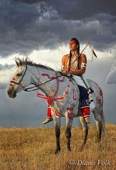 Brave Astride a Beautiful Indian Pony.