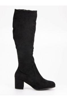 Klasické čierne čižmy Nio Nio FR-1192B Heeled Boots, Platform, Wedges, Outfit, Heels, Fashion, High Heel Boots, Outfits, Heel