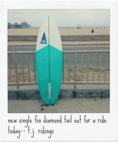 single fin diamond tail by Harbour Surfboards