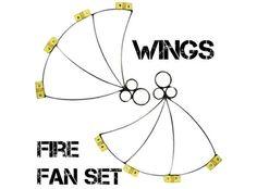 Fire Fan Set - Wings Fire Crown, Fire Fans, Light My Fire, Fun Stuff, Rave, Medicine, Wings, Led, Tools
