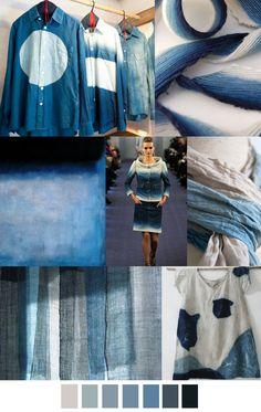 . Indigo dyes, rugged, soft, homespun.