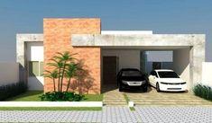 Casa mica cu acoperis plat si garaj Simple House Design, Decoration, Portal, Garage Doors, Sweet Home, Architecture, Outdoor Decor, Home Decor, Houses