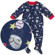 $11.24-$15.00 Baby Little Me All Star Zip Footie, Navy Multi, 18 Months - This cozy sleeper is perfect for warmer weather. It features a baseball print complete with baseballs, gloves, and bats. The navy lightweight fabric is flame resistant polyester.  • Attached feet with non-skid soles • Red trim http://www.amazon.com/dp/B004H0MJ26/?tag=pin2baby-20