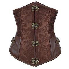 Shaperdiva Women's Steampunk Underbust Corset Waist Cincher Gothic Bustier Top, http://www.amazon.com/dp/B00OZH8Y4I/ref=cm_sw_r_pi_awdl_RfO8ub1MQ092B