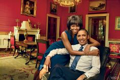 Michelle Obama and Barack Obama in Vogue USA
