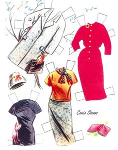 Connie Stevens paper doll clothes / eBay * 1500 free paper dolls from artist Arielle Gabriel The International Paper Doll Society for Pinterest paper doll pals *