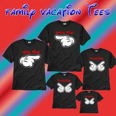 Free Shipping Custom Disney Minnie Mouse and Mickey Mouse Family Vacation Shirts Personalized, Mickey Ears, Family Shirts