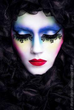 dramatic editorial makeup