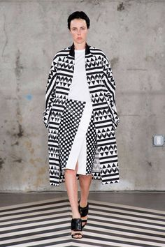 NYFW Spring 2014 Trends - Top Fashion Trends 2014 - Elle Think I could scale this up with mixed african prints