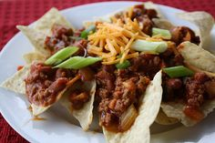 Yummy chili over chips