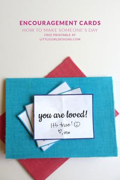 How to make encouragement cards plus a free printable to make your own! You can send your sponsored child a whole bunch of encouragement cards in one envelope.