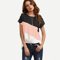 Cut And Sew Patchwork Top