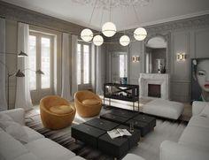 #livingroom #chair #lighting | Apartment in Paris by ART BURO | HomeAdore