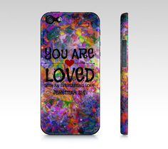 YOU ARE LOVED God Christian Jesus Scripture Art by EbiEmporium, $40.00 #Jeremiah 31:3 #love #Christ #Christian #Gift #tech #device #iPhone4 #iPhone5 #cell #phone #case #floral #promise #abstract #flowers #scripture #bible #biblical #truth #religious #God #Jesus #savior #pray #religion #Catholic #believe #belief #verse #typography #font #art #fineart #feminine #elegant #faith #holy #heart #colorful #saved #heaven #wisdom #church #Lord #praise #red #purple #violet #garden #nature #quote…