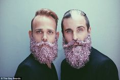 Gay best friends who decorate their facial hair earn internet fame #dailymail