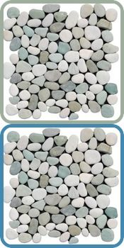 Ocean Mix Pebble Tile I Wish Could See These Installed